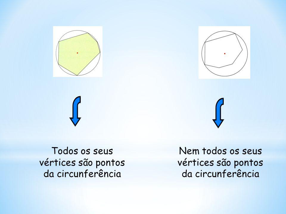 Todos os seus vértices são pontos da circunferência