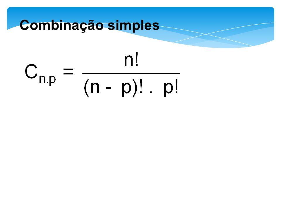 Combinação simples