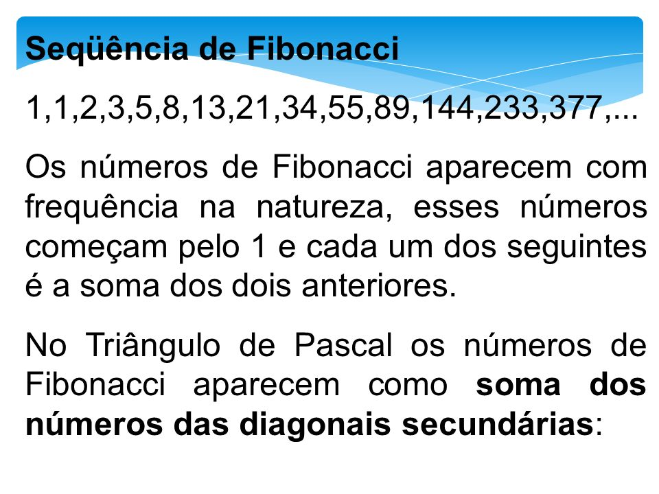 Seqüência de Fibonacci