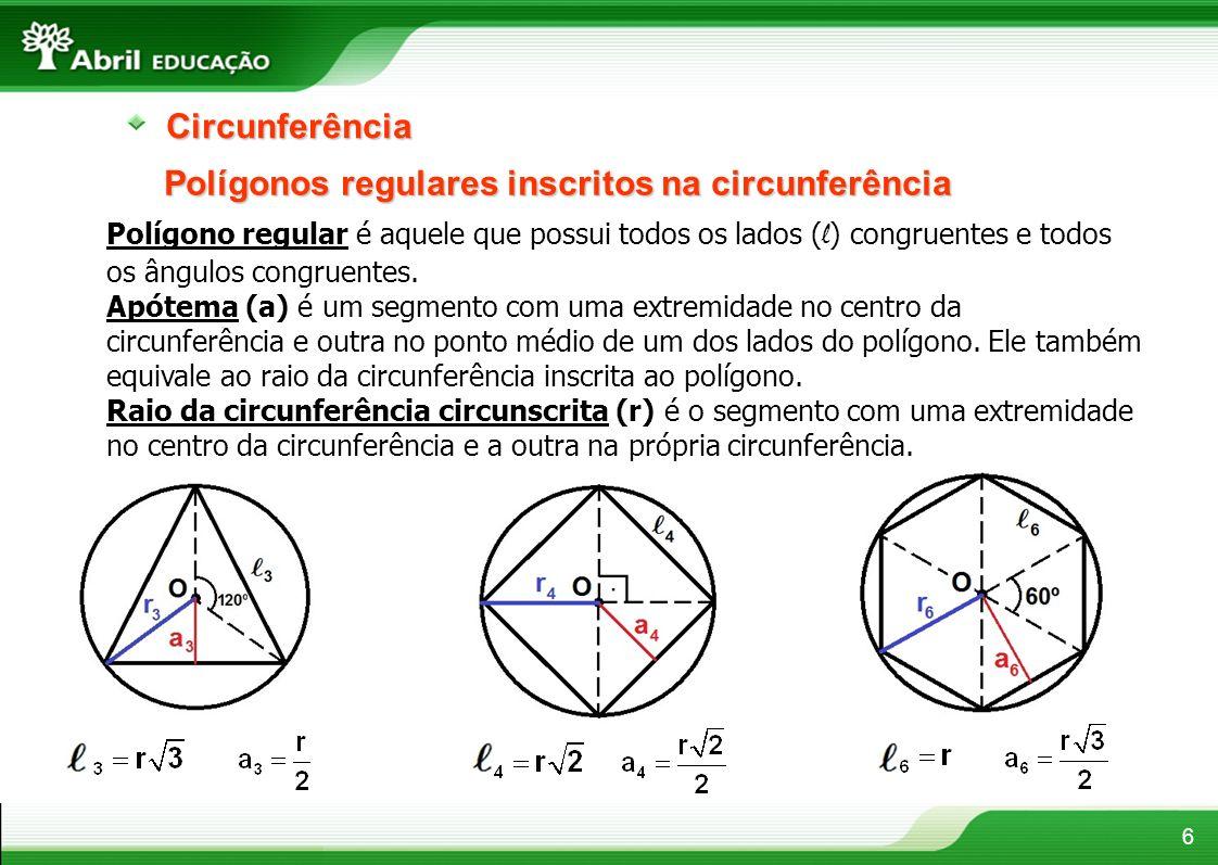 Polígonos regulares inscritos na circunferência