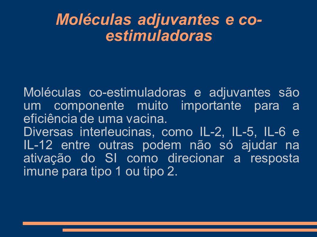 Moléculas adjuvantes e co-estimuladoras