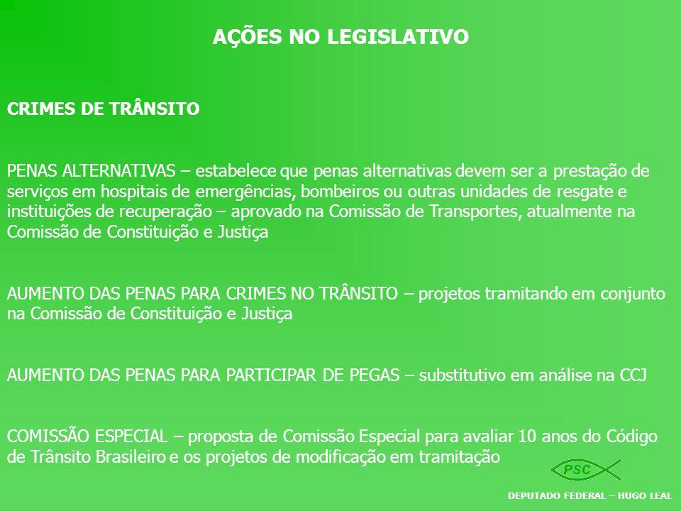 AÇÕES NO LEGISLATIVO CRIMES DE TRÂNSITO