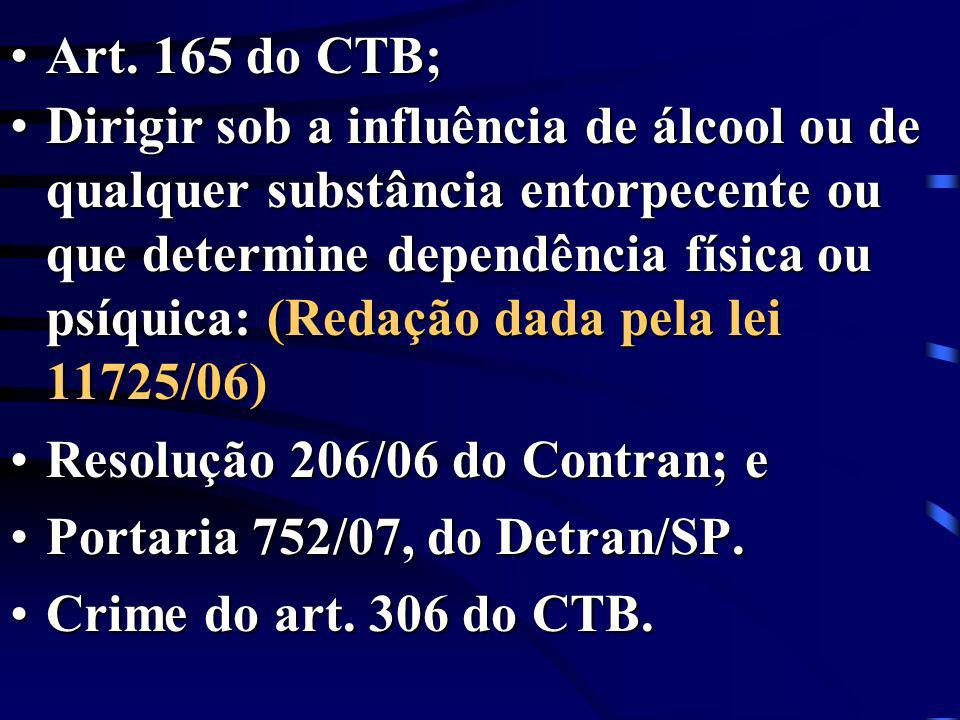Art. 165 do CTB;