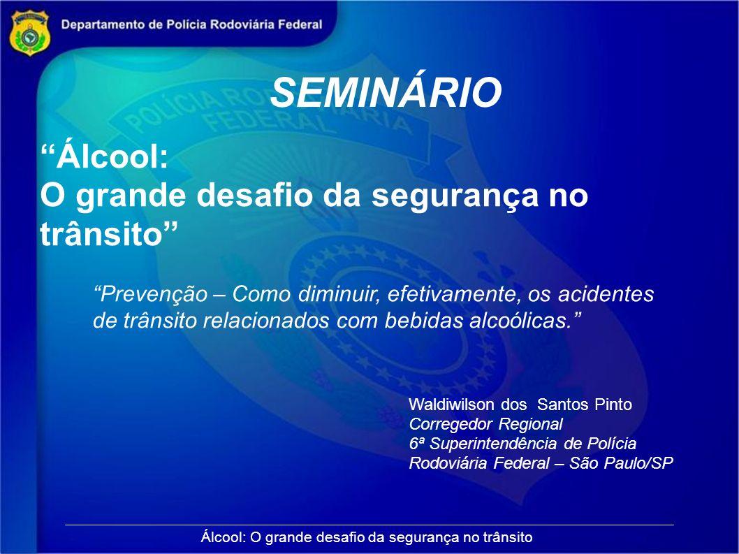 SEMINÁRIO Álcool: O grande desafio da segurança no trânsito