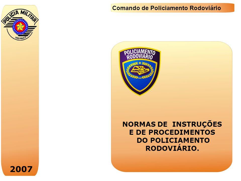 2007 NORMAS DE INSTRUÇÕES E DE PROCEDIMENTOS DO POLICIAMENTO