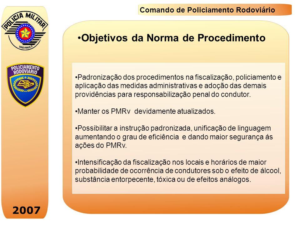 Objetivos da Norma de Procedimento