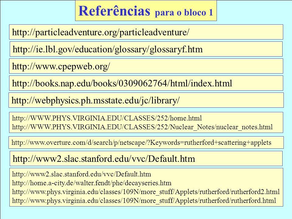 Referências para o bloco 1
