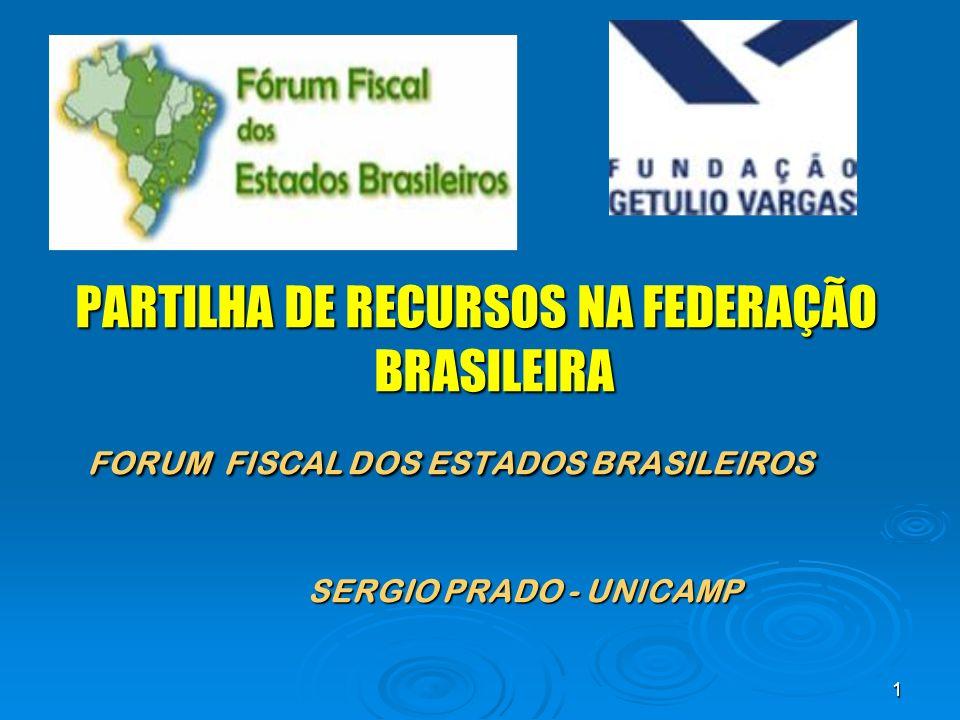 PARTILHA DE RECURSOS NA FEDERAÇÃO BRASILEIRA
