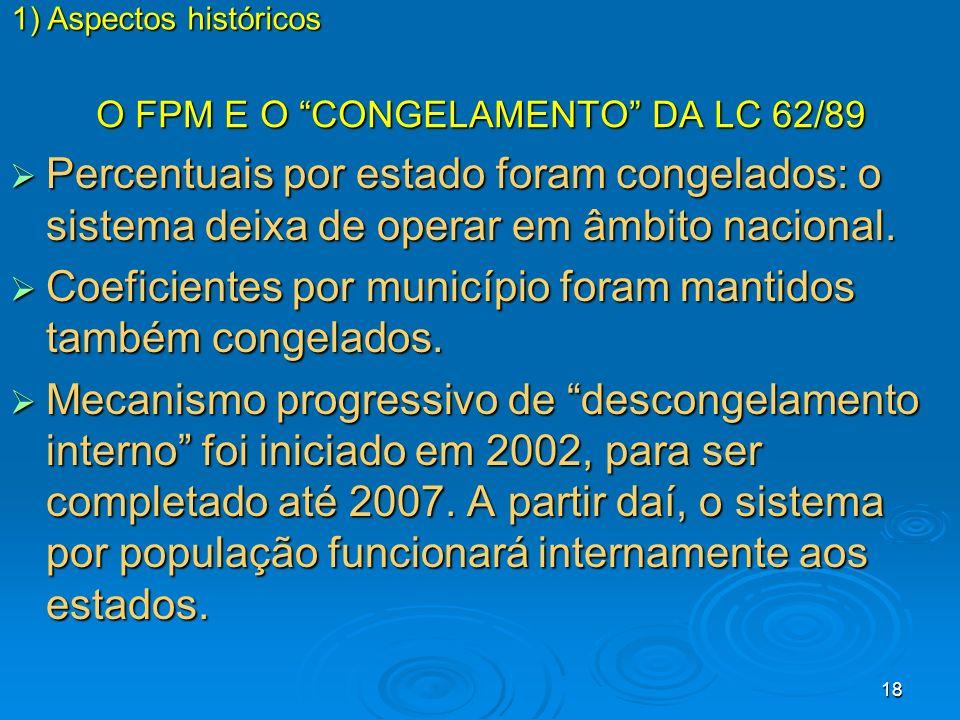 O FPM E O CONGELAMENTO DA LC 62/89