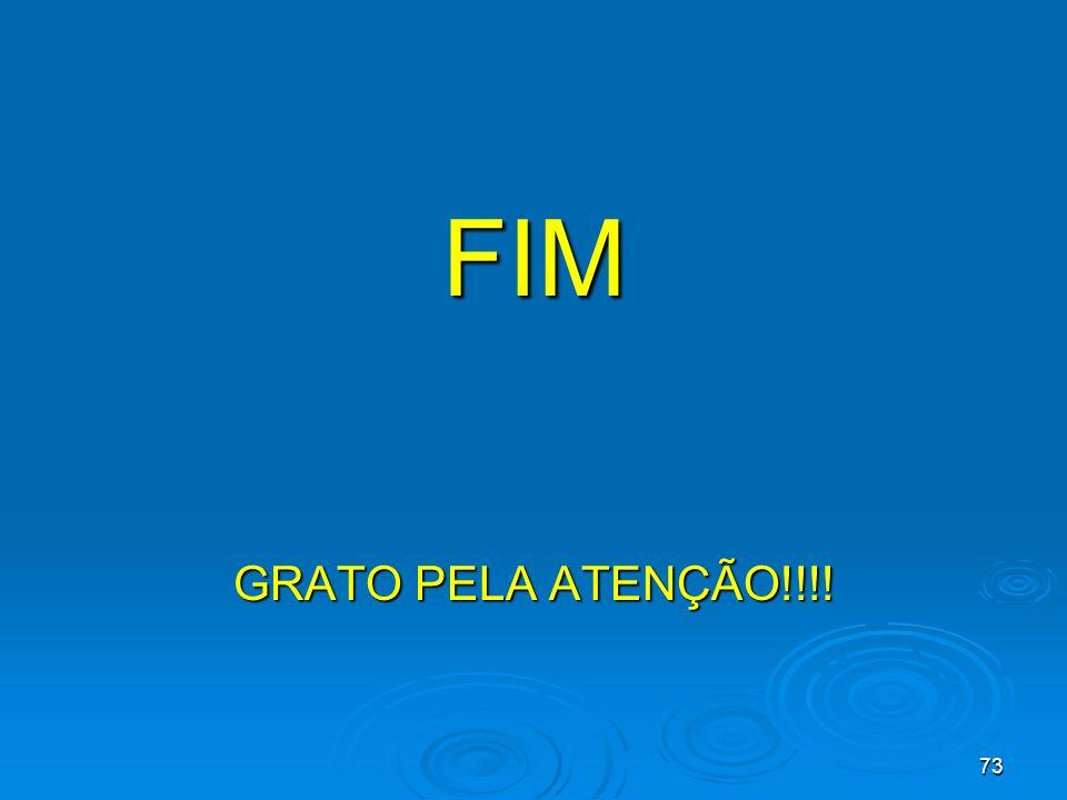 FIM GRATO PELA ATENÇÃO!!!!