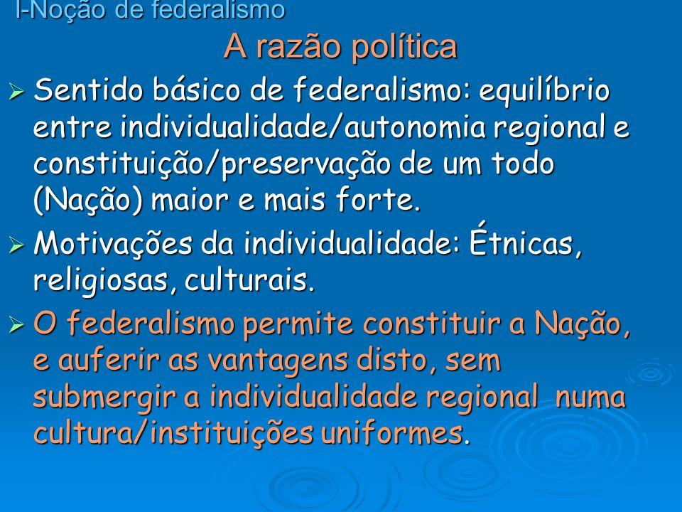 I-Noção de federalismo