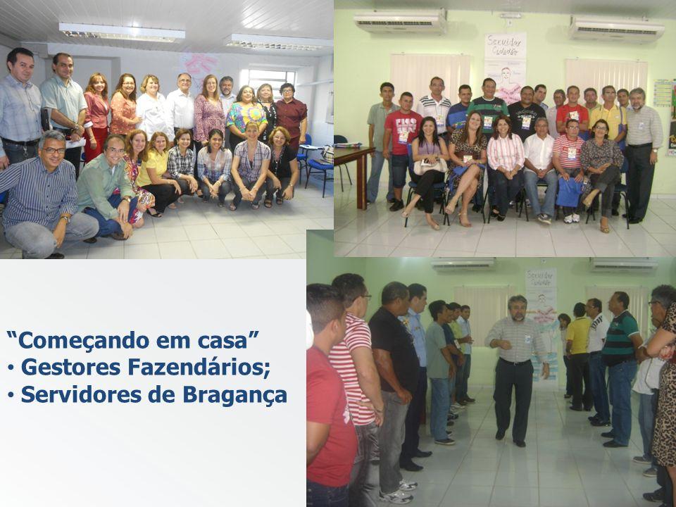 Começando em casa Gestores Fazendários; Servidores de Bragança