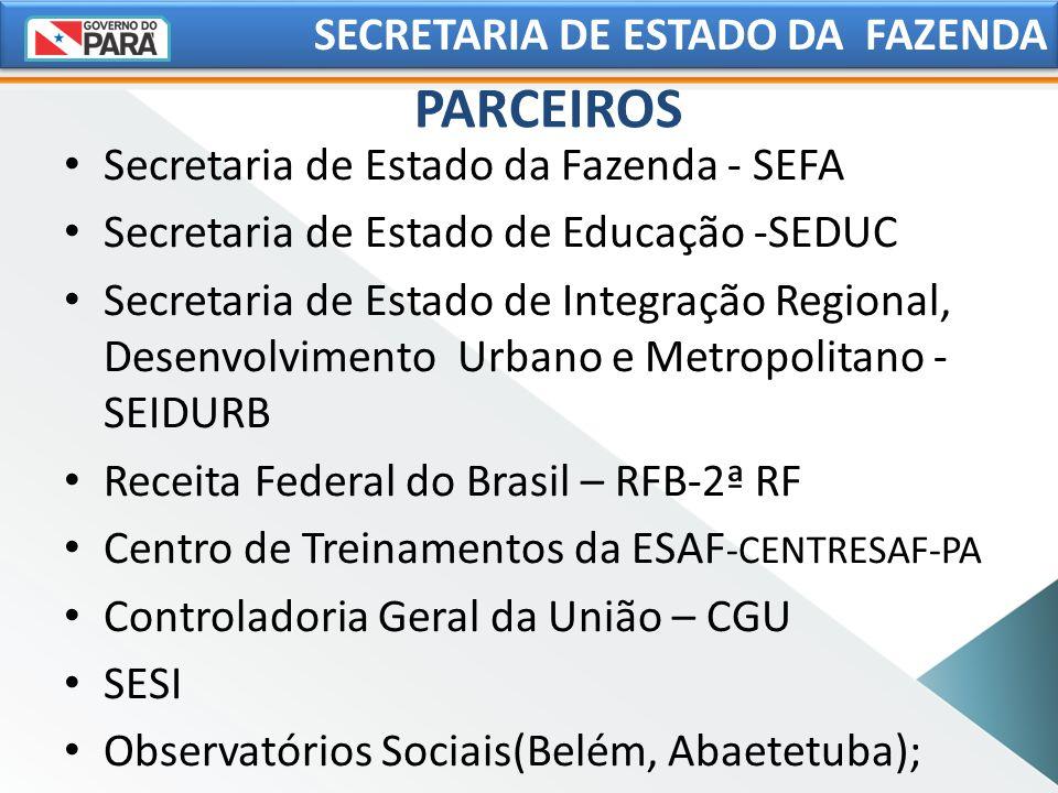 PARCEIROS SECRETARIA DE ESTADO DA FAZENDA