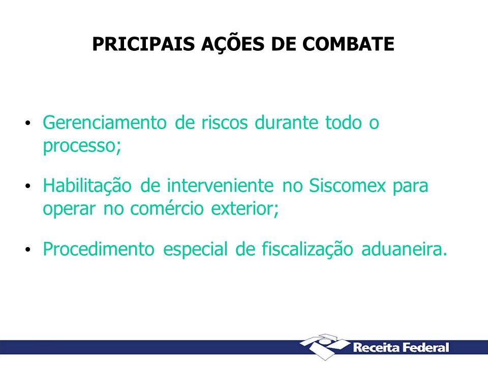 PRICIPAIS AÇÕES DE COMBATE