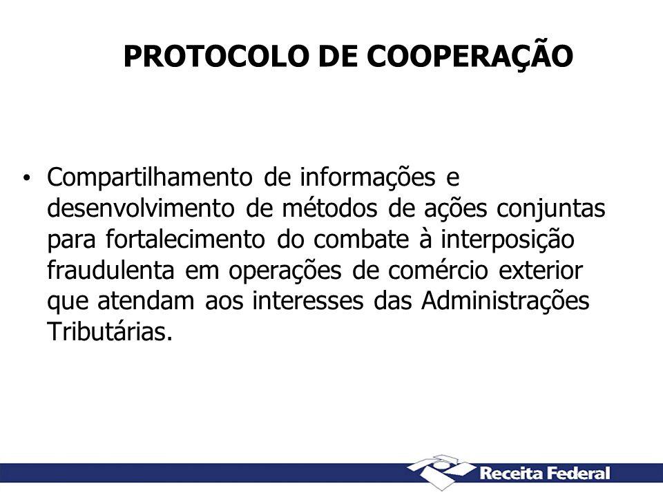 PROTOCOLO DE COOPERAÇÃO