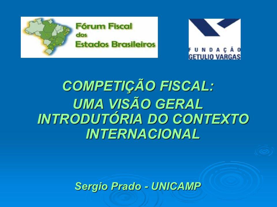 UMA VISÃO GERAL INTRODUTÓRIA DO CONTEXTO INTERNACIONAL