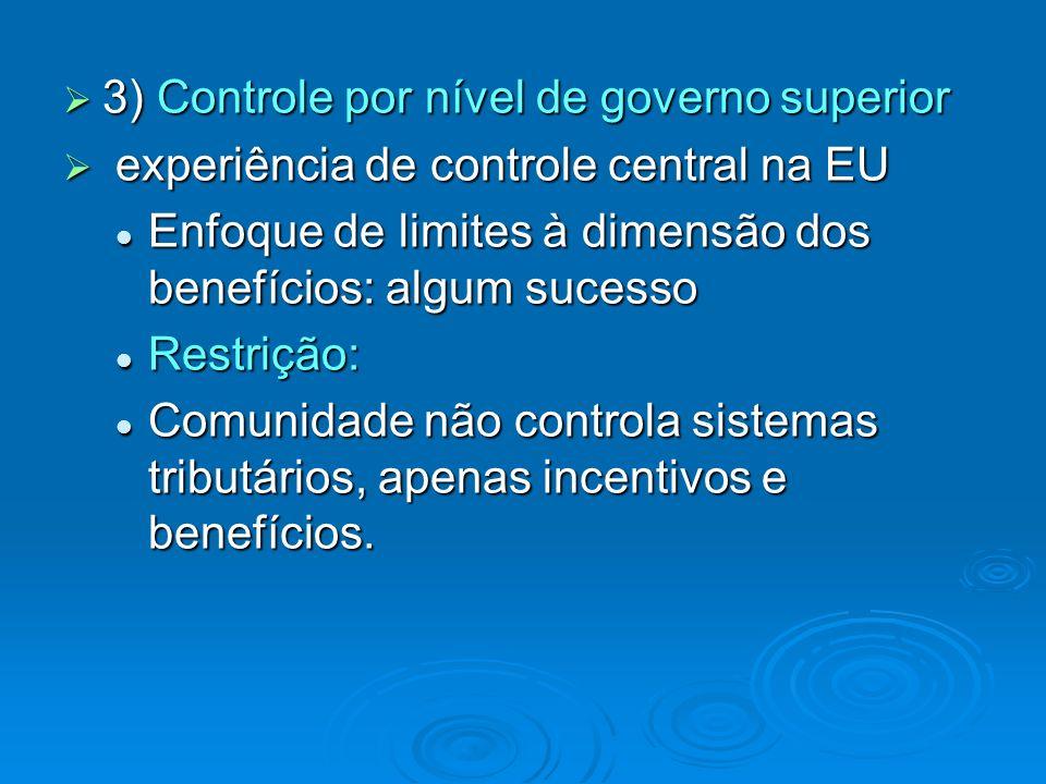 3) Controle por nível de governo superior