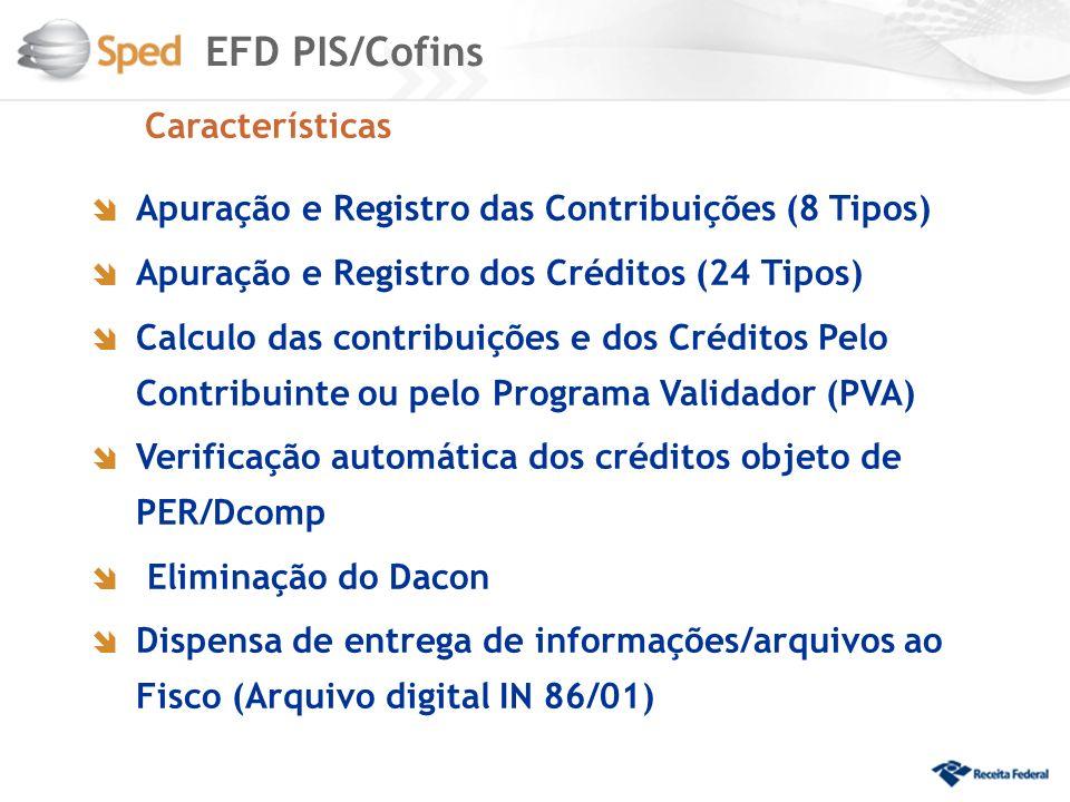 EFD PIS/Cofins Características