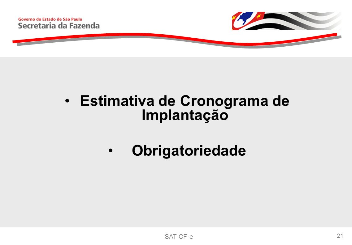 Estimativa de Cronograma de Implantação