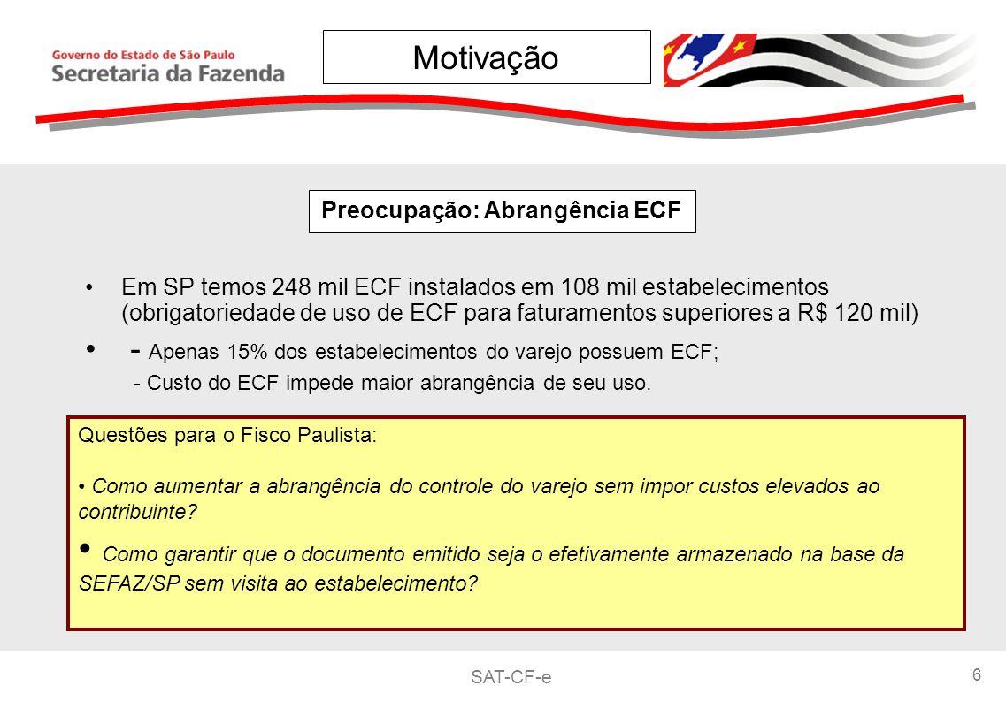 Preocupação: Abrangência ECF