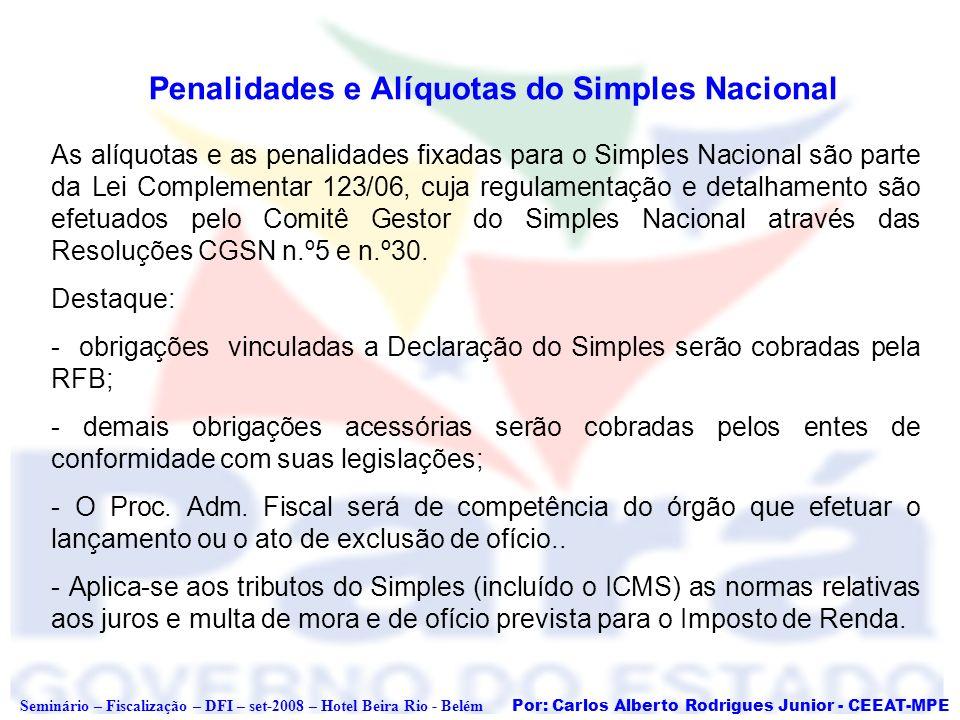 Penalidades e Alíquotas do Simples Nacional