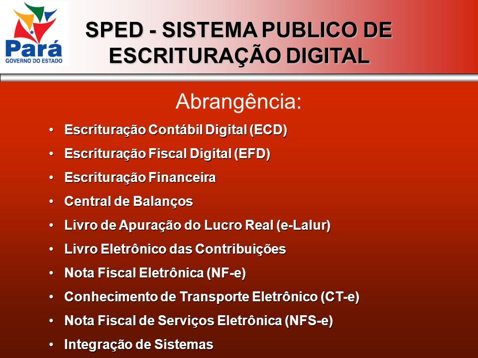 Abrangência: Escrituração Contábil Digital (ECD)
