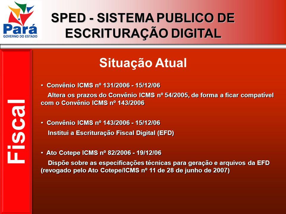 Fiscal Situação Atual Convênio ICMS nº 131/2006 - 15/12/06