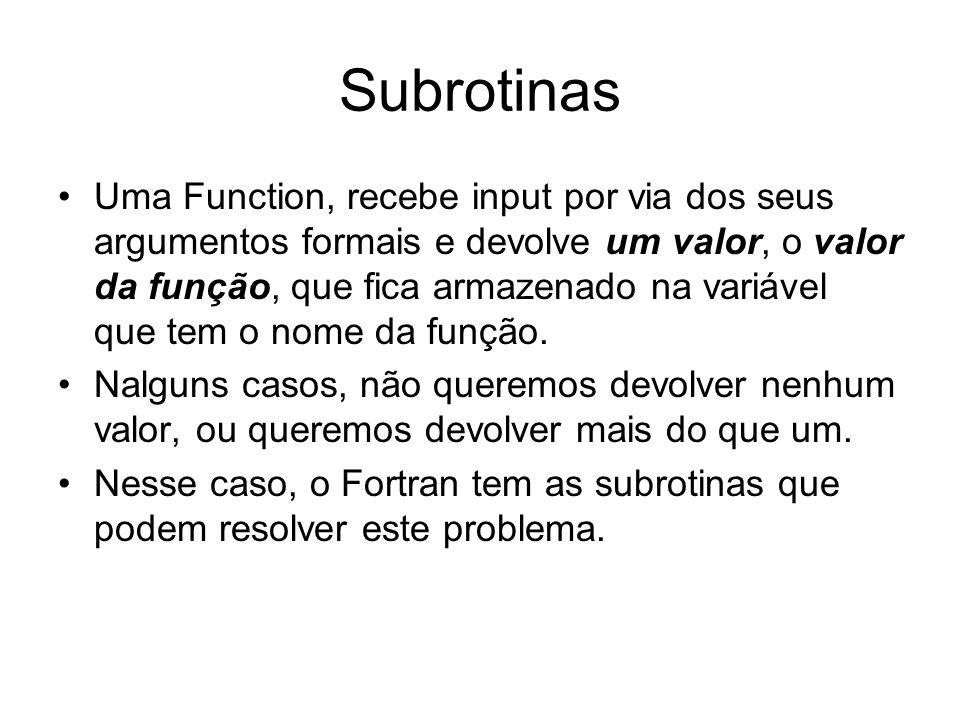 Subrotinas