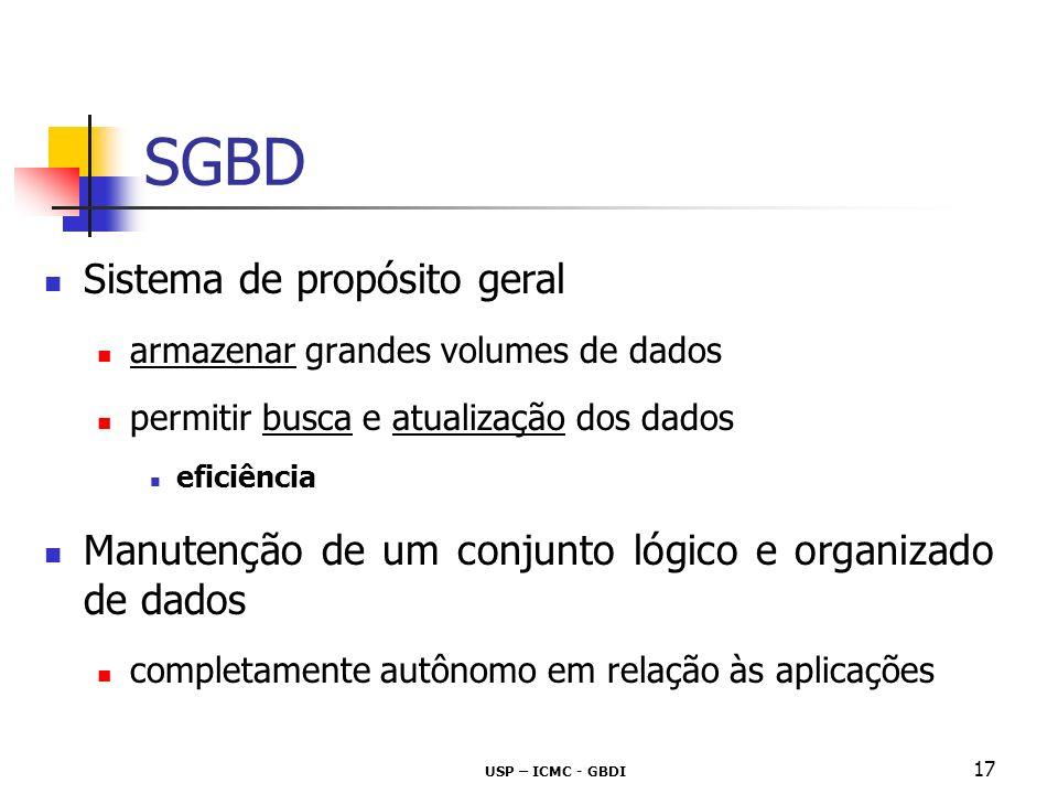 SGBD Sistema de propósito geral