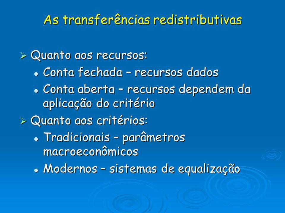 As transferências redistributivas