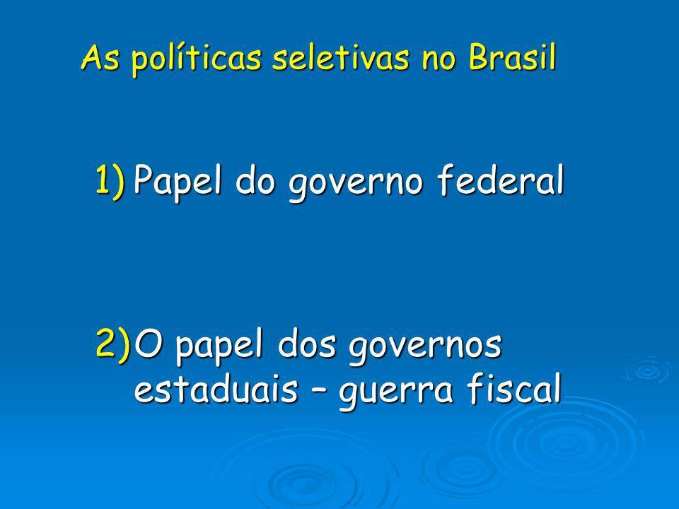 As políticas seletivas no Brasil