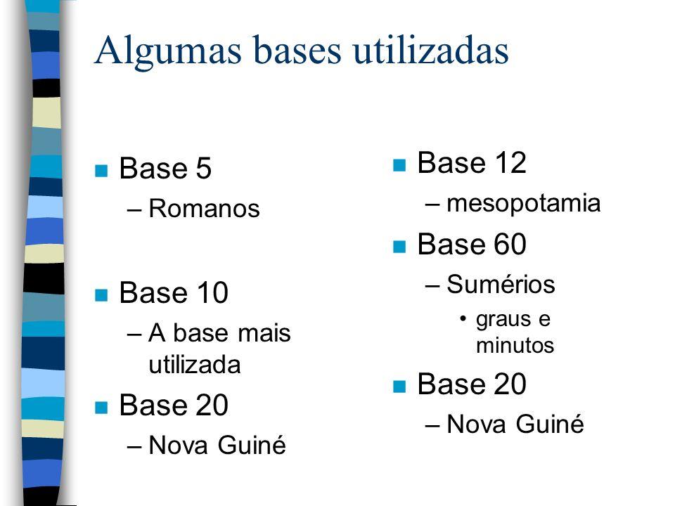 Algumas bases utilizadas