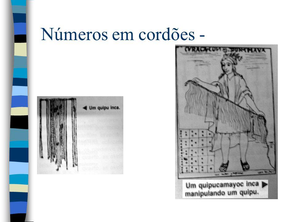 Números em cordões -