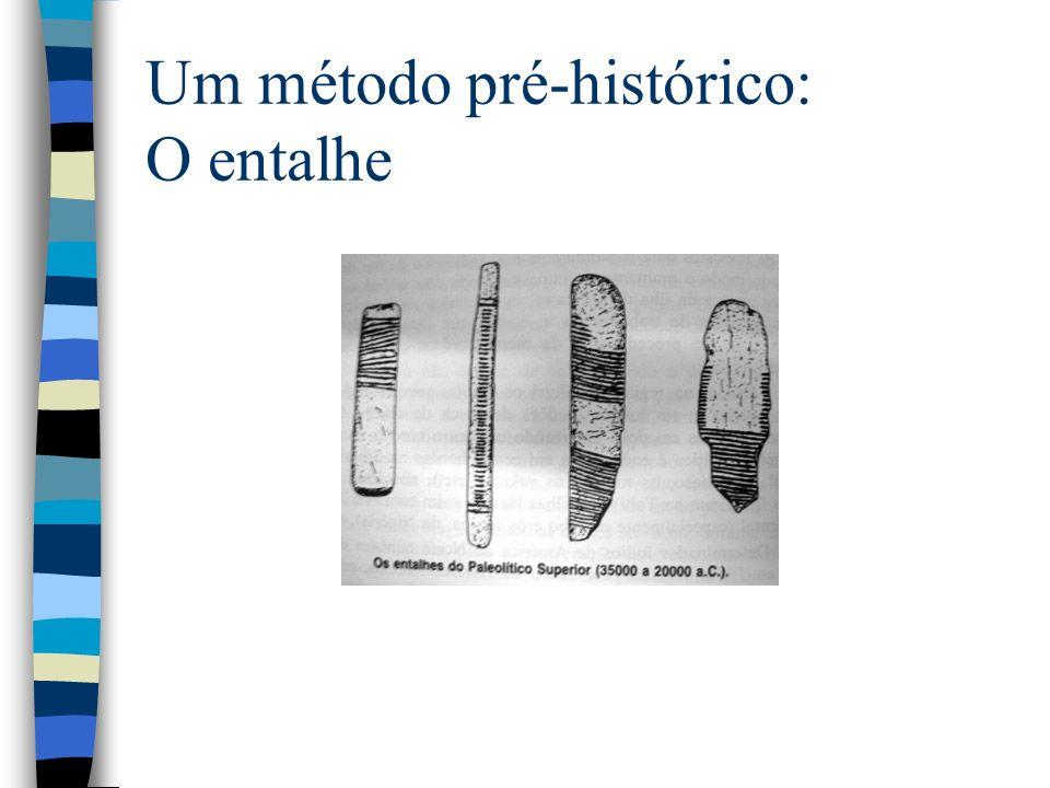 Um método pré-histórico: O entalhe