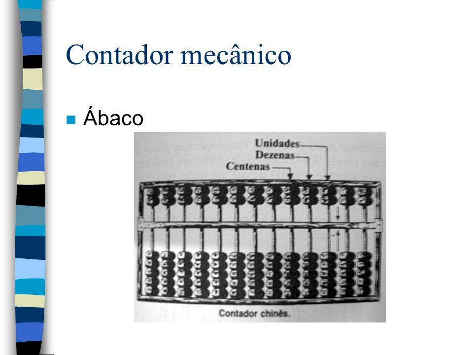 Contador mecânico Ábaco