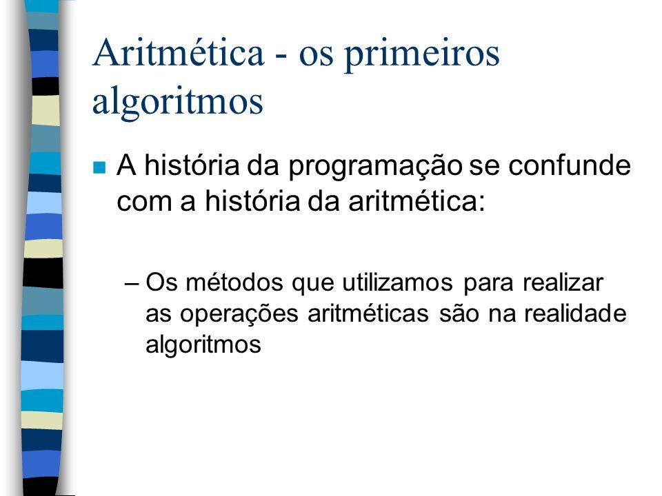Aritmética - os primeiros algoritmos