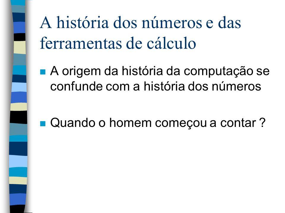 A história dos números e das ferramentas de cálculo