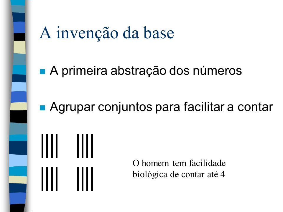 A invenção da base A primeira abstração dos números