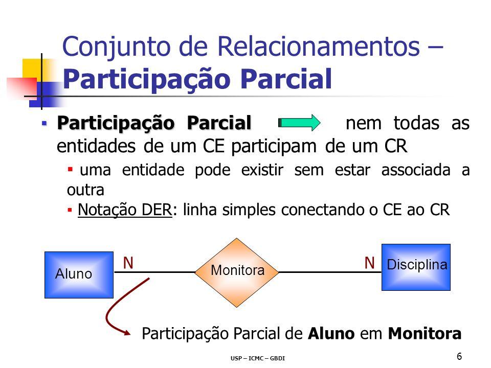 Conjunto de Relacionamentos – Participação Parcial