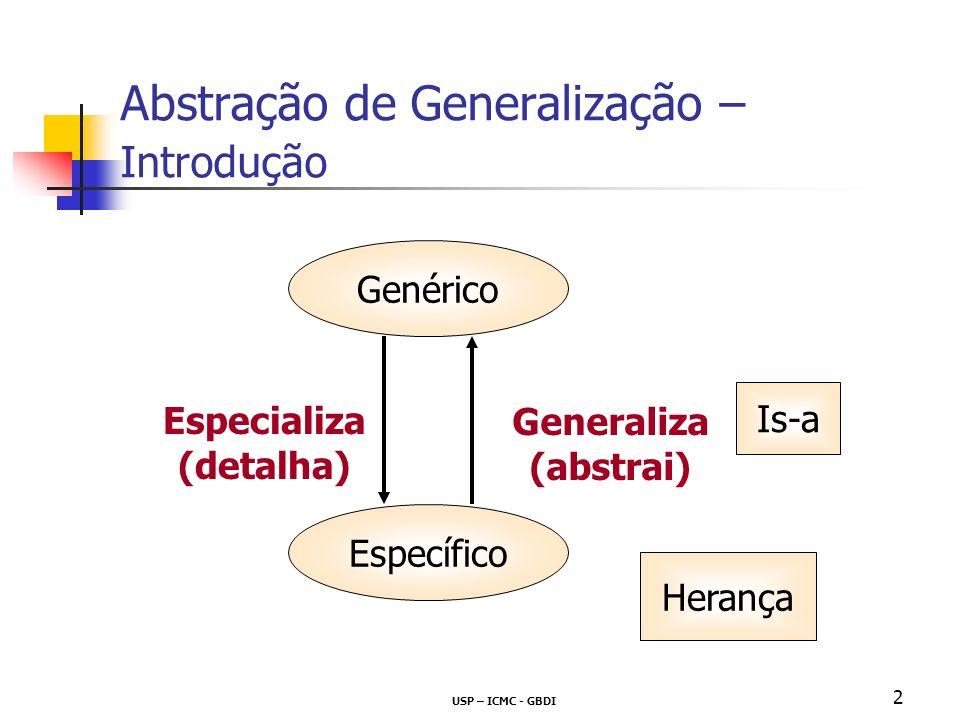 Abstração de Generalização – Introdução