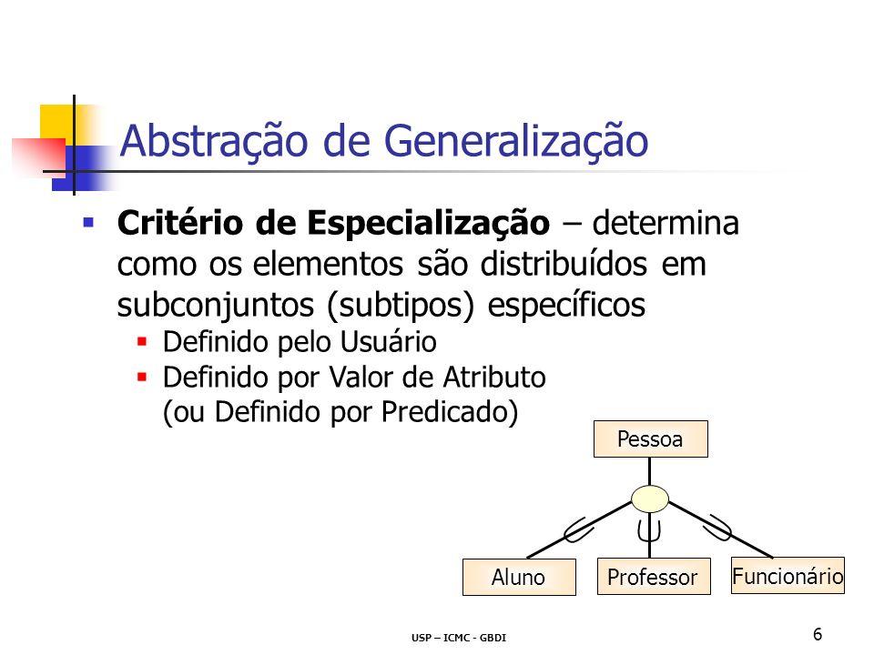 Abstração de Generalização