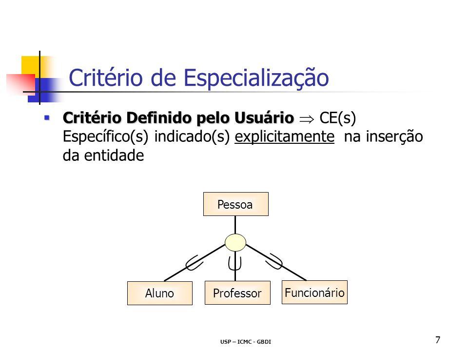 Critério de Especialização