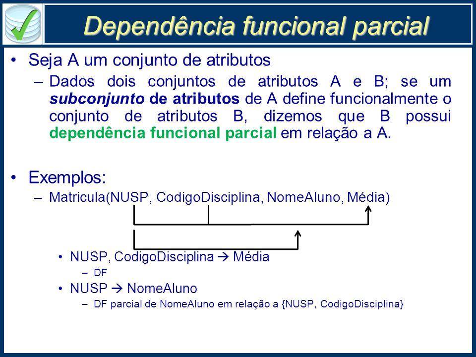 Dependência funcional parcial