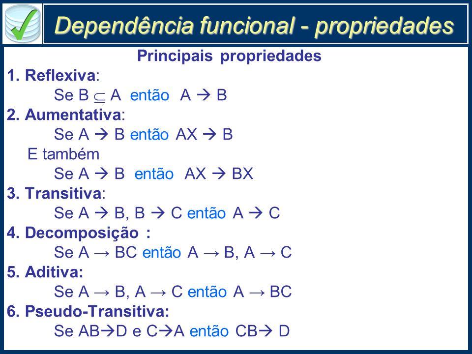 Dependência funcional - propriedades