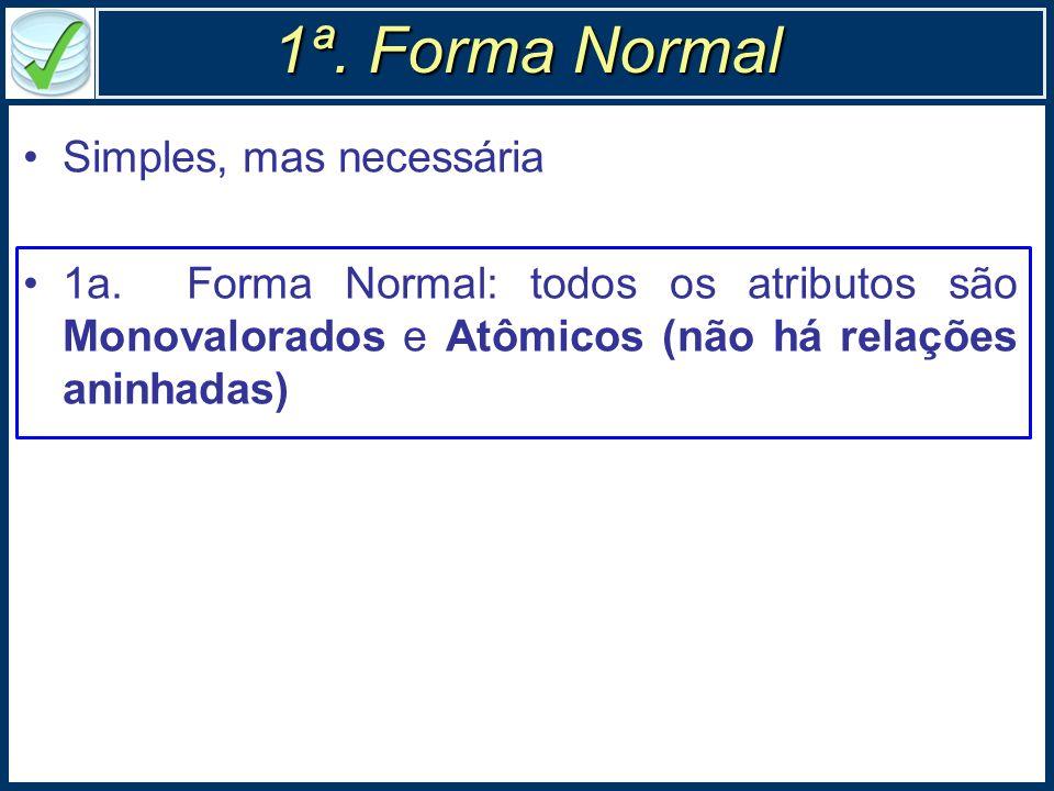 1ª. Forma Normal Simples, mas necessária