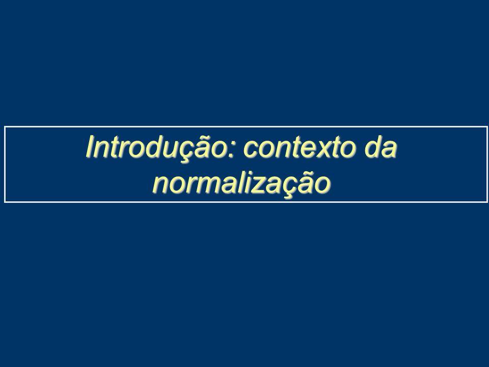 Introdução: contexto da normalização
