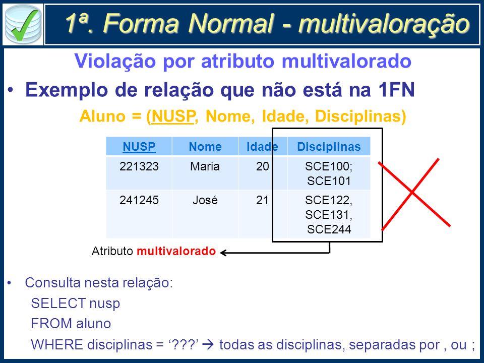1ª. Forma Normal - multivaloração