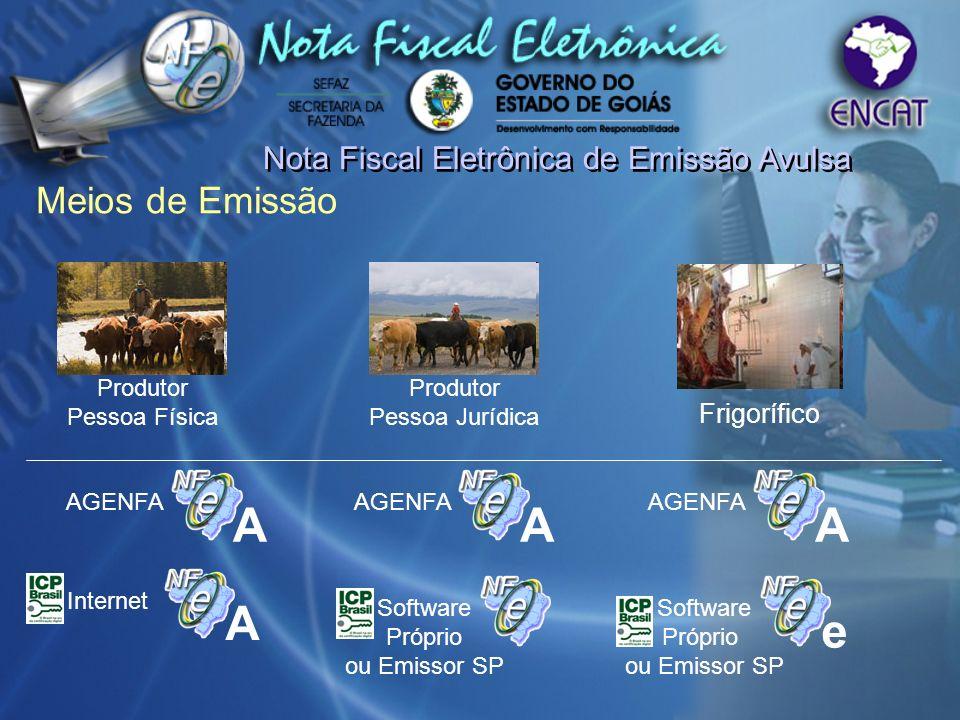 A A A A e Meios de Emissão Nota Fiscal Eletrônica de Emissão Avulsa