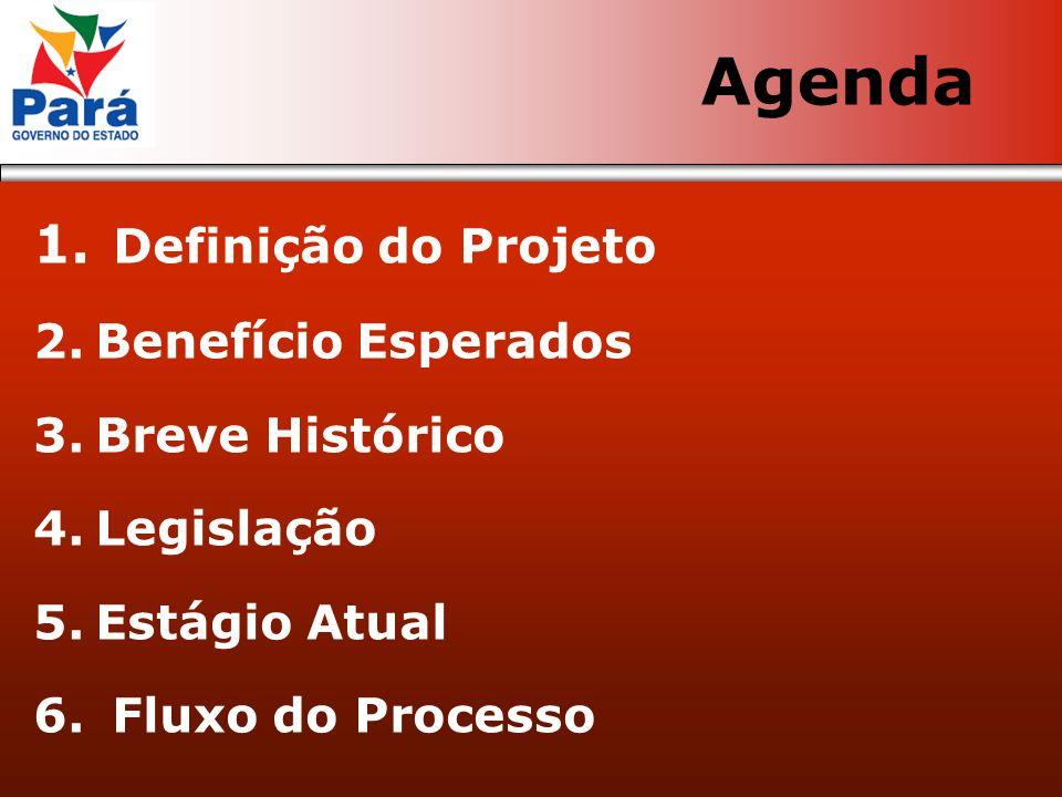 Agenda Definição do Projeto Benefício Esperados Breve Histórico