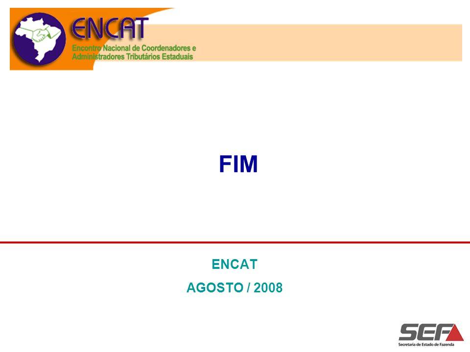 FIM ENCAT AGOSTO / 2008